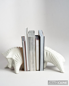 Ceramic Book Ends