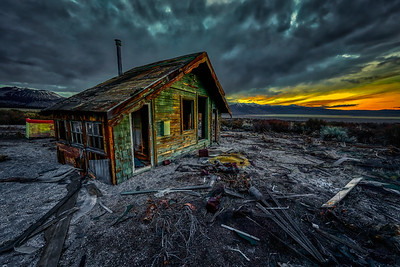 Mono Mills Cabin at Sunset