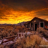 Deep Sunset over Sams Cabins
