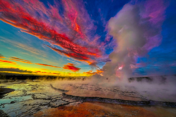 Fire in the Sky @ Great Fountain Geyser