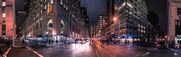 Park Ave at night 2