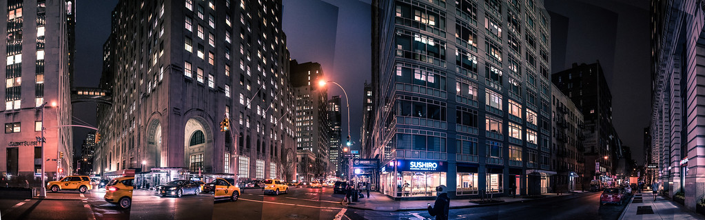 Park Ave at night 1