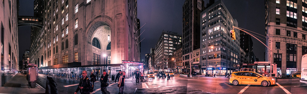 Park Ave at night 3