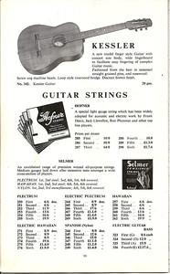 Selmer catalogue 1958
