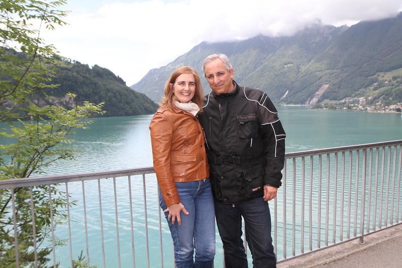 Catarina e Americo no Lago de Lucerna