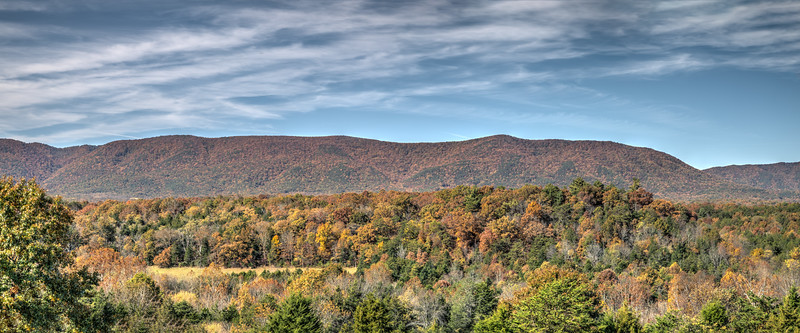 Our Fall Panorama View of the Mountains from our front Porch
