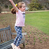 2018 April 22    Cate jumping off the bench   Lilac Park, Lombard, IL