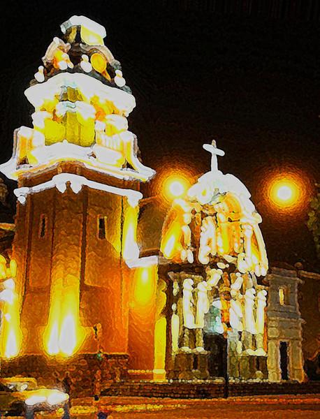 "<p><font size=""4"" face=""Trajan Pro"">Iglesia de Barranco - Lima</font></p>"