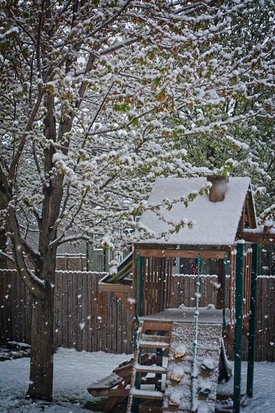 A snowy April day