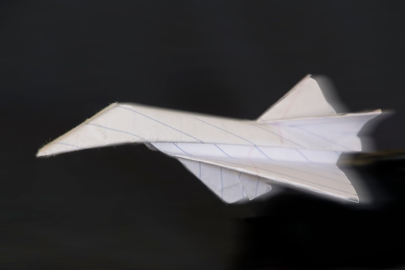 Eli folded this paper airplane