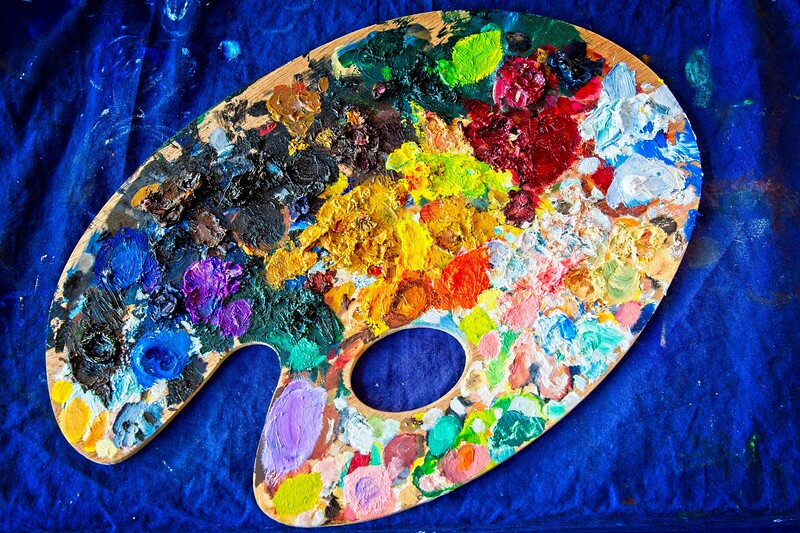 Millie's art materials. Beauty in chaos