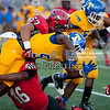 Corinth's #46 Deonte Keith and #57 Tanner Hathcock makes the tackle on Tupelo's #5 Chris Shannon.