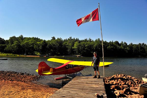Plane on dock