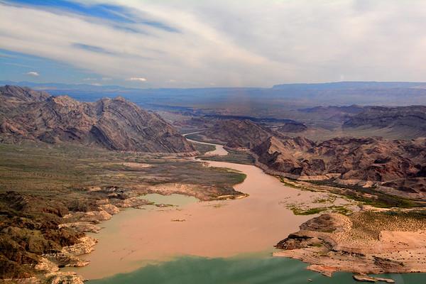 Where the Colorado River meets Lake Mead