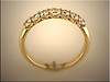 14K yellow gold remount in trellis design by Ron Litolff