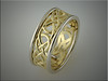 14K white and 18K yellow gold Celtic knot band.  Made by Ron Litolff.