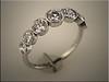 14K white gold bezel set diamond band using customers diamonds Designed and made by Tim Frank