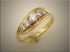14K yellow and white gold remount for customers 5 tapering diamonds, by Ron Litolff