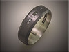 Yet another customers design realized in this blackened sterling silver with 6 small black diamonds, princess cuts, by Ron Litolff