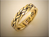 14K yellow gold Celtic knot ring with antiquing by Ron Litolff