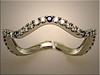 Platinum custom swirl band with diamonds and sapphires by Ron Litolff