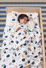 "aden + anais - Organic Muslin Toddler Bed in a Bag - Lifestyle<br /> Style: ""Into the Woods""<br /> Includes:<br /> Flat Sheet/Fitted Sheet Combo - Dimensions: Fitted: 134cm x 76cm x 24cm - Flat: 160cm x 127cm<br /> Dream Blanket (four layers muslin) - Dimensions: 147cm x 107cm<br /> Pillow and Pillow Case - Dimensions: Pillow: 56cm x 30cm - Pillow Case: 58cm x 36cm<br /> SRP INC GST - $299.00"