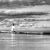 Port Lghthouse in B&W