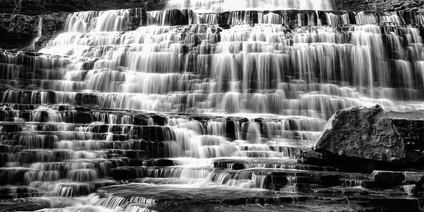 Albion Falls B&W