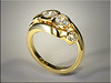 14K yellow gold remount using diamonds from a customers multiple rings.  Designed and made by Ron Litolff.