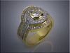 14K two-tone lady's diamond ring