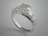 14K White Gold Seven Diamond Engagement Ring