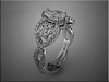 14K white gold custom engagement ring from customers inspiration.  Pear shaped center.  Made by Ron Litolff
