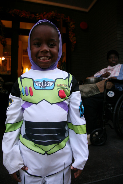 """Joseph's House provides care and support to formerly homeless men and women with terminal illnesses. On Halloween a festive atmosphere was present, in the midst of the suffering. The woman in the background was dressed up for Halloween, visited by both her mother and her teenage daughter. <br /> <br /> For more info see  <a href=""""http://www.josephshouse.org"""">http://www.josephshouse.org</a>"""