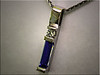 14K white gold custom pendant mounting for customers tanzanite with diamond accent by Ron Litolff