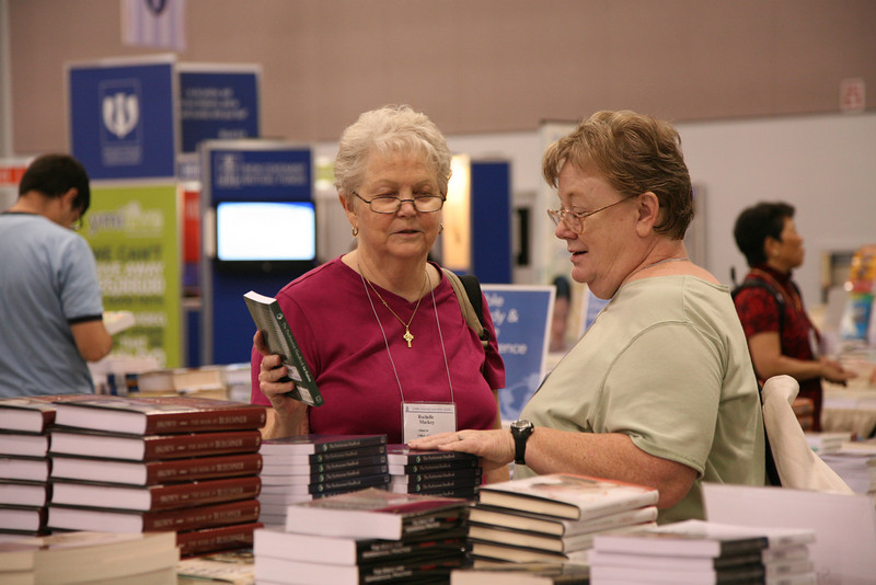 Commissioners in the conference bookstore.
