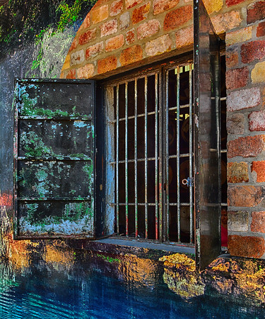 Painted window and water 12 x 10