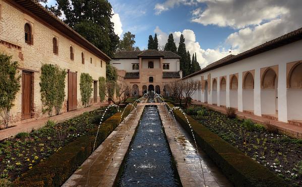 Generalife Palace Fountain