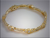 p505<br /> 18K Yellow Gold Custom Hand Engraved Ladys Bracelet with Ideal Cut Diamonds, design by Tim Frank