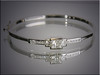 14K white gold bracelet set with customer's diamonds
