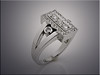 14K white gold customer's diamonds remount