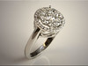 p499<br /> 14K White Gold Diamond Cluster Ring, design by Tim Frank