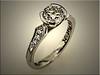 Custom platinum engagement ring by Ron Litolff