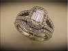 14K white gold custom band to fit previously made engagement ring by Ron Litolff