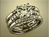 Custom platinum trio set resetting customers diamonds by Ron Litolff