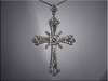14K custom made diamond cross set with customer's diamonds