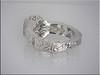 14K white gold diamond remount with hand engraving