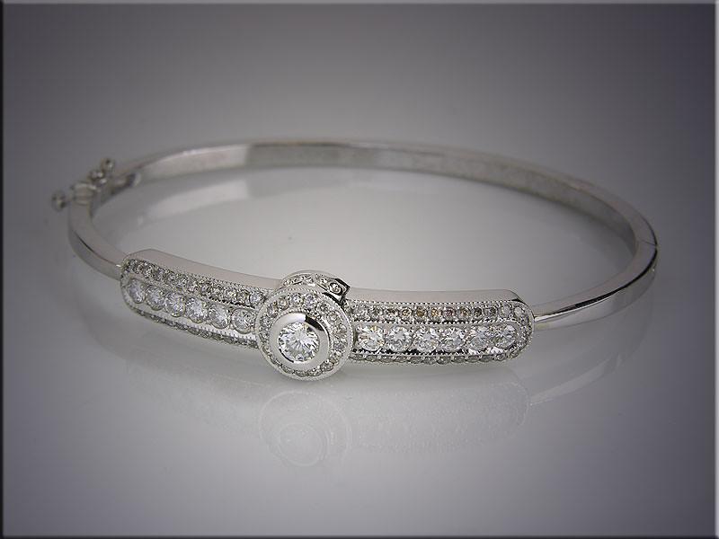 14K bracelet remount set with customer's diamonds