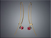 18K tension wire earrings with tourmalines set in white gold bezels.  By Ron Litolff