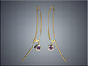18K tension wire earrings with color change garnets set in white gold bezels.  By Ron Litolff