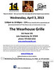 Wearhouse Grille April 2013